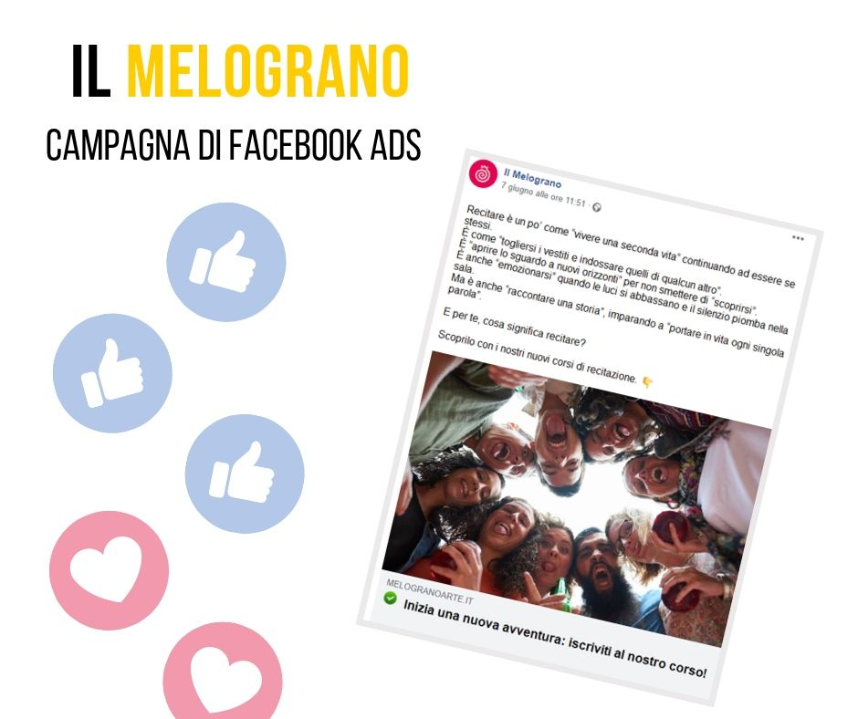 Il Melograno post Facebook