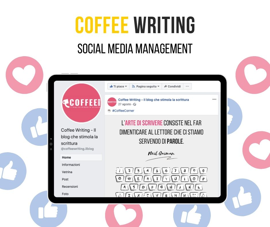 Coffee Writing Social Media